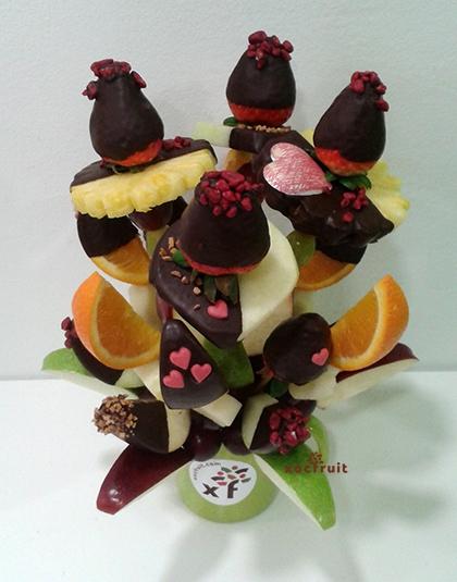 Ramo de fruta Amor-Choc