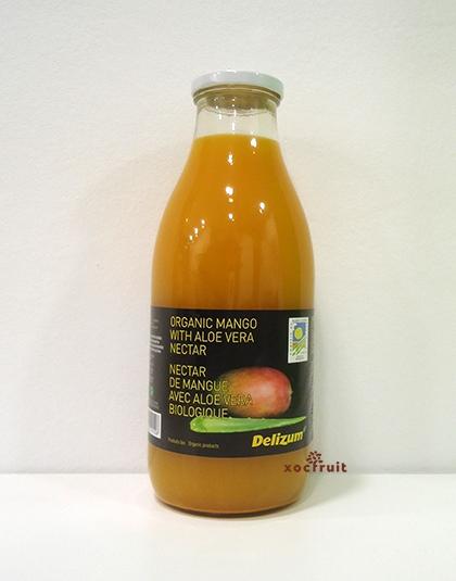 Zumo ecológico de mango y aloe vera