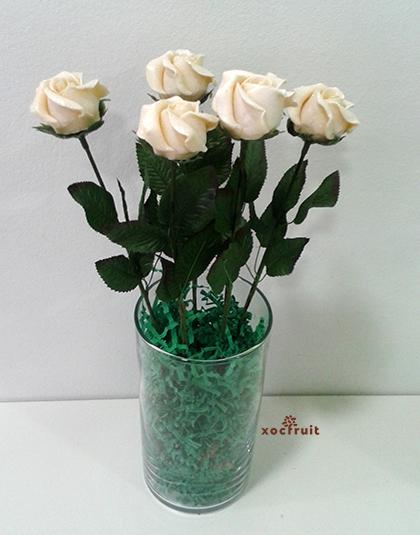 Rosa de chocolate blanco