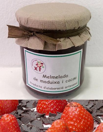 Mermelada fresas y cacao
